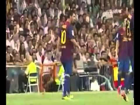 Lionel Messi vomited on the pitch at the Santiago Bernabeu   14 08 2011    YouTube