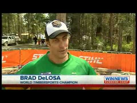 STIHL TIMBERSPORTS news coverage from the Queensland Arborcamp