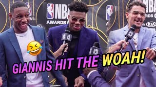 Greek Freak & RJ Barrett Show Off DANCE MOVES at NBA Awards! Giannis Dropping A Track With J COLE!?