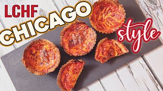 1g Carb DEEP DISH PIZZA Bites ???? Low Carb EASY Keto Snacks Recipe