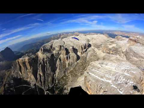 Dolomites 2011 FULLHD dreams Paragliding in Italy Beauty of nature