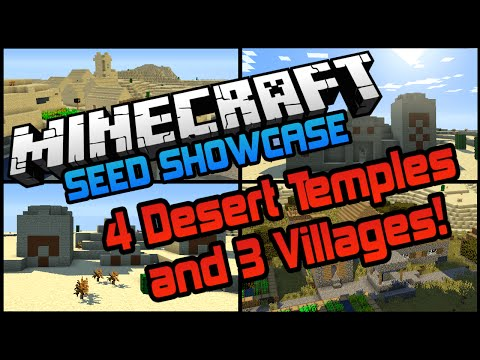 Epic 1.8.1 Seed - 4 Desert Temples & 3 Villages! (Minecraft Seed Showcase)