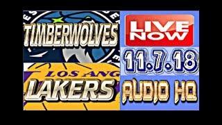 TIMBERWOLVES vs LAKERS Live Now 11.7.18 Score