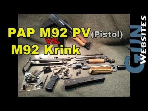 PAP AK47 Pistol vs. Yugo Krink M92