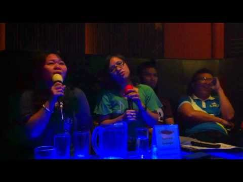 Singing medley songs at Center Stage Family KTV and Resto Bar 11.2.13