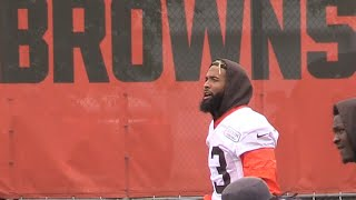 Odell Beckham Jr. in action at Browns minicamp