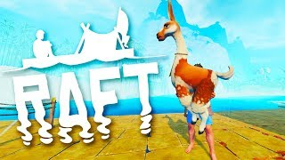 Found An Abandonded Island And Tamed A Wild Llama in Raft