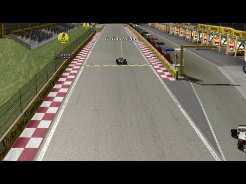 My second qualifying run in the F1 1992 mod at Kyalami South Africa. A better lap this time but shown from the external TV camera.
