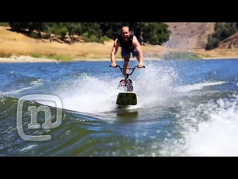 Ryan Nyquist Invents New BMX Wakeboarding Sport! Wakebike: Getting Awesome Ep 4