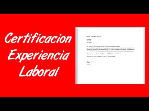 Como hacer una carta de certificación de experiencia laboral