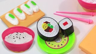 Pretend Play Toy Kitchen Cooking Velcro Sushi Kids Kitchen Play Set Toys by Unbox Me