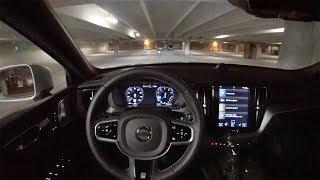 2018 Volvo XC60 T6 AWD R-Design - POV Night Driving Impressions (Binaural Audio)