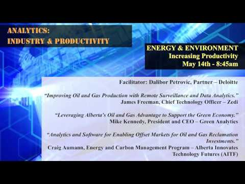 ENERGY & ENVIRONMENT -- Increasing Productivity ( 8:45am May 14th)