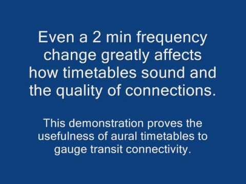 Timetable Beat: sounds from transport timetables - Part 3