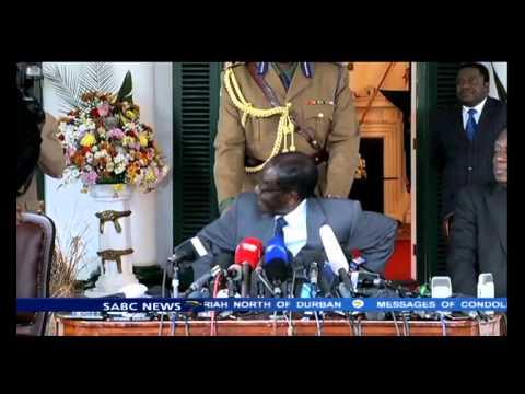Barack Obama at the AU headquarters without meeting Mugabe