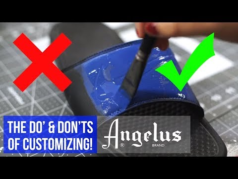 The Do's & Don'ts of Using Angelus Paints