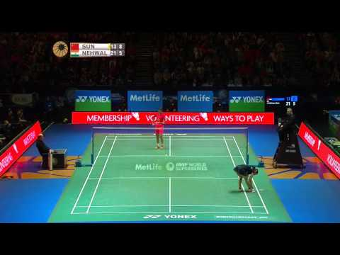 Sun Yu vs Saina Nehwal | WS SF Match 1 - YONEX All England Open 2015