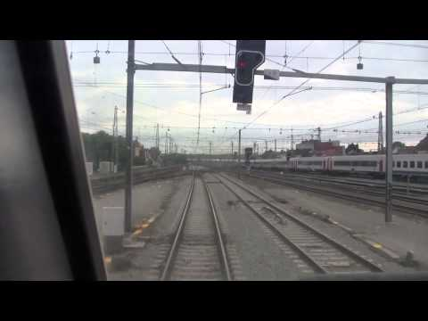 Train Driver's view: Brussels-Midi - Brussels-Airport