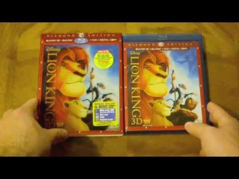 The Lion King 3D (Target Exclusive) Blu-ray Unboxing