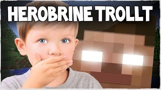 HEROBRINE TROLLT KIDDY - Minecraft SERVER TROLLING LIVE