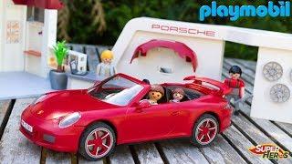 Histoire de Playmobil La Famille Thomas s'achète une nouvelle Voiture Porsche 911 Jouet Enfants Kids