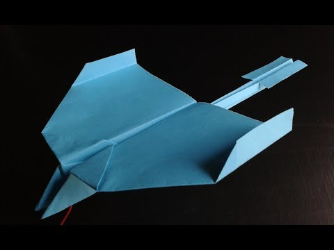 How To Make A Paper Airplane That Flies Far. (Glider)