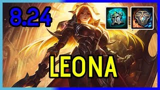 8.24 LEONA SUPPORT GAMEPLAY - DIAMOND - League of Legends