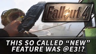 "Fallout 4 : The ""NEW Bashing Feature"" is ONLY the Weapon Melee!?"