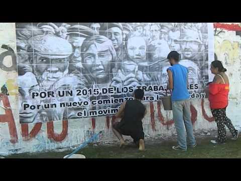 Mural 2015 Juventud Revolucionaria - PT - Uruguay