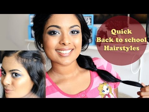 Back to School Hair - 2 quick and easy hairstyles for school (Collab with Makemeup89)