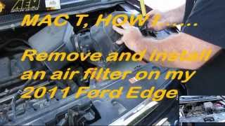 2011 Ford Edge AEM filter installation