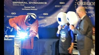 KEEL LAYING FOR OREGON (SSN 793) - 7-8-2017 - QUONSET POINT RI