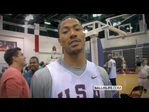 Derrick Rose Ballin' Out During Team USA Scrimmage Game; Crosses Rajon Rondo BAD!
