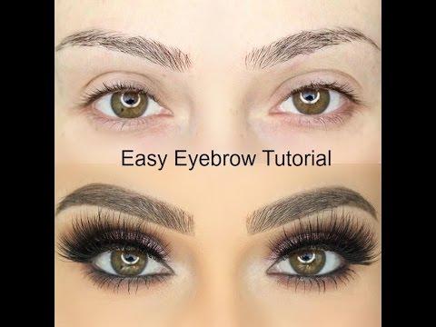 Easy Eyebrow Tutorial   Eyebrow Routine