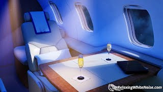 White Noise Private Jet | Sleep or Study to Airplane Cabin Sound | 10 Hours Plane Noise