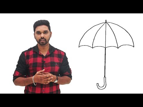 Art & Drawing Class Day -3 | Umbrella | Easy and Step by Step drawing for kids in Tamil