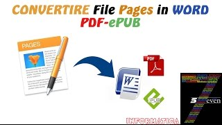 Come Convertire File da Pages in Word Pdf ePub
