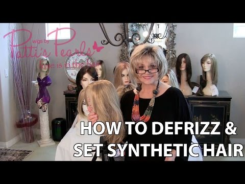 How to defrizz and set synthetic hair and what tools you need