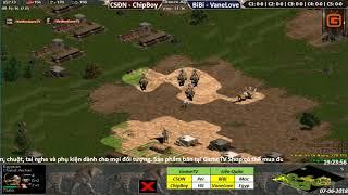 AoE 22 Random Chim Sẻ Đi Nắng, ChipBoy  vs BiBi, VaneLove Ngày 07-06-2018