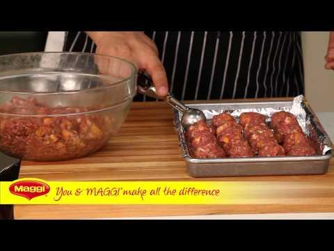 MAGGI® Recipe: Spicy Meatballs in Pomegranate BBQ Sauce