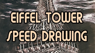 Speed Drawing :: Eiffel Tower E1 - YouTube
