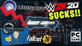 AJS News - Ubisoft in Freefall, WWE2K20 SUCKS, Bethesda Responds to Fallout 76 1st Issues!