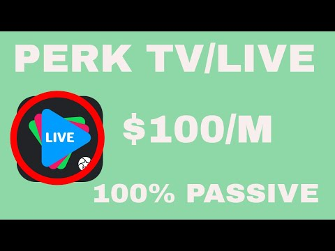 Perk TV/Live Review. Make $100/m! Completely Passive.