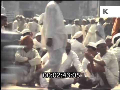 Late 60s Mumbai, India, Streets, People, Slum, 35mm