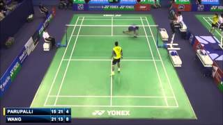 Longest rally in badminton history (time) - Wang Zhengming vs Kashyap Parupalli French Open 2014