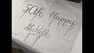 Cake Toppers/Cricut Topper/Craft with me /Divon Creations