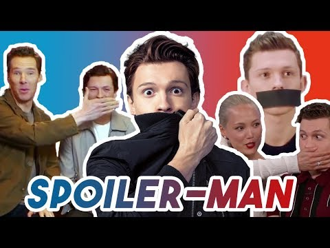 TOM HOLLAND CANT STOP HIS SPOILERS | AVENGERS: INFINITY WAR 2018 thumbnail
