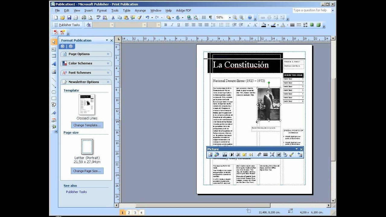 Hacer un diario con publisher 2007 youtube for Como organizar un periodico mural