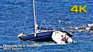 Rescue of a sailboat (Summer 2017) [4K]