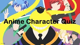 Anime Character Quiz [Easy/Medium/Hard]